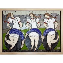 mozaika 70x50cm - GÓRALKI (1200zł)
