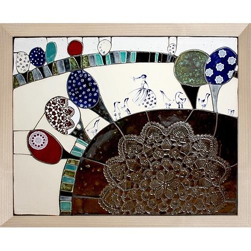 mozaika 50x40cm - GĘSIARKA (650zł)