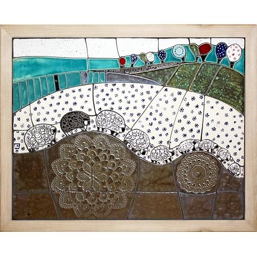 mozaika 50x40cm - OWIECZKI (650zł)