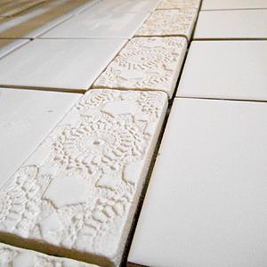 Ręcznie robione płytki łazienkowe