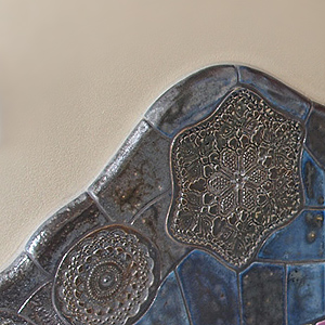 Ceramiczna mozaika koronkowa