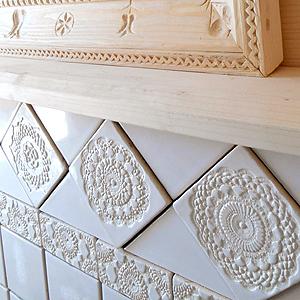 Ręcznie robione dekory łazienkowe