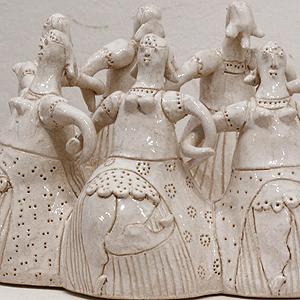 Ceramiczna rzeźba 'GÓRALKI'