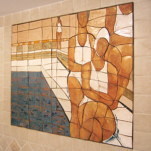 Ceramiczne mozaiki koniakowskie